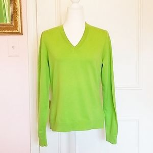 LILLY PUITZER lime green sweater